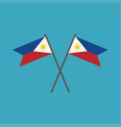 Philippines flag icon in flat design vector