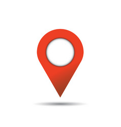 Pin icon location sign in flat style isolated on vector