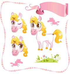 Pretty Pink Unicorn vector