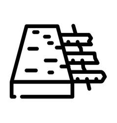 Reinforced concrete floor line icon vector