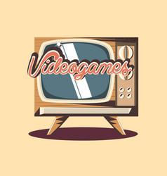 retro videogames design vector image