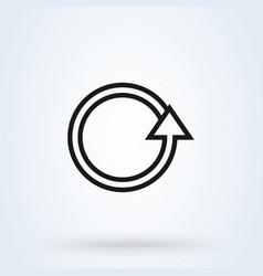 rotation arrow simple line art modern icon vector image