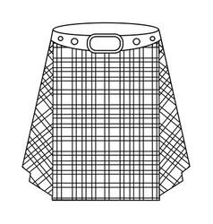 Scottish tartan kiltmen s skirt for scots vector