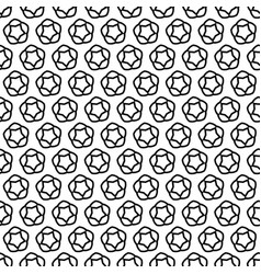 Seamless pattern line star decoration abstract vector