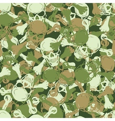 Seamless skull camouflage pattern vector
