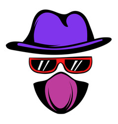 Spy icon cartoon vector