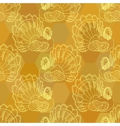 Thanksgiving graphic seamless pattern with turkey vector