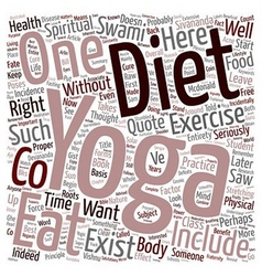 That s NOT Yoga if one eats like that text vector image