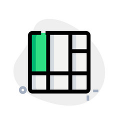 Tiles - multiple layer and section on frame vector