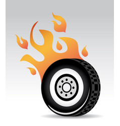 Tire burning vector