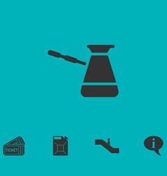Turkish coffee icon flat vector