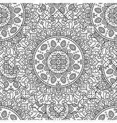Vintage ornament seamless pattern vector