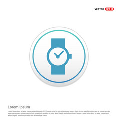 watch icon - white circle button vector image