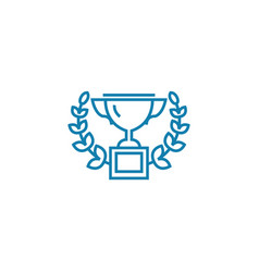 well-deserved award linear icon concept well vector image