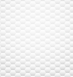 White textured honeycomb background vector image