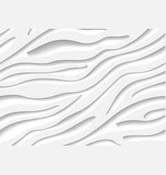 white zebra pattern with 3d effect vector image