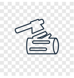 woodcutter concept linear icon isolated on vector image