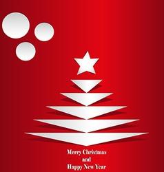 Cet Christmas tree vector image vector image