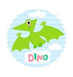 Flying dinosaur vector image vector image