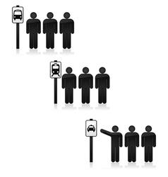Transit stop vector