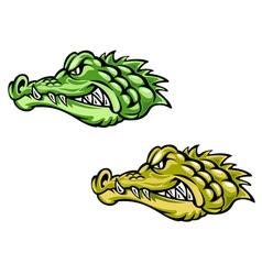 Alligator head for mascot vector
