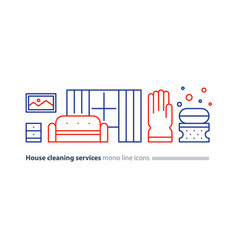 clean house maintenance services refresh interior vector image vector image