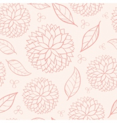 eamless floral vector image vector image