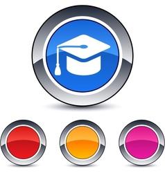 graduation round button vector image