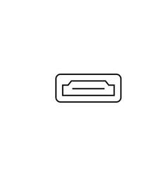 hdmi icon vector image