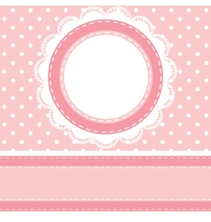 polka dot background with lace napkin vector image vector image