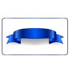 satin empty ribbon banner vector image