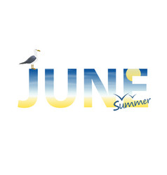 banner year in june vector image