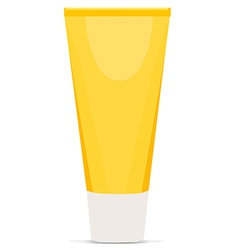 Cream tube yellow vector image