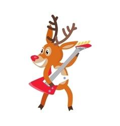 Deer Rock Musician Cartoon Cartoon vector image vector image