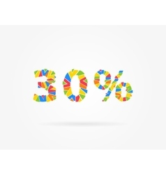 Discount 30 percent colorful vector image vector image
