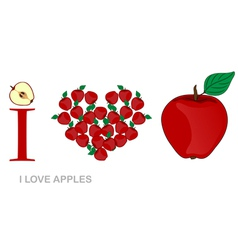 i love apples vector image vector image