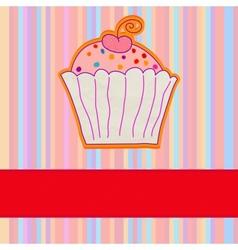 Retro Cupcake Background vector image