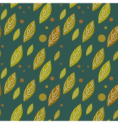 Seamless autumn falling leaves pattern vector image vector image