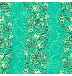 seamless background with floral branches Intricate vector image vector image