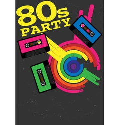 80s party flyer vector image
