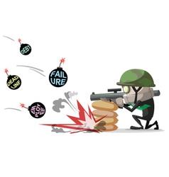 businessman war vector image vector image