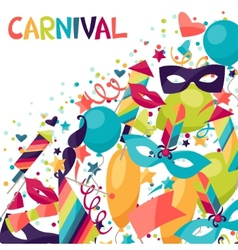 Celebration festive background with carnival icons vector image vector image