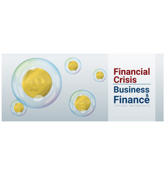 Finance concept background with financial crisis vector