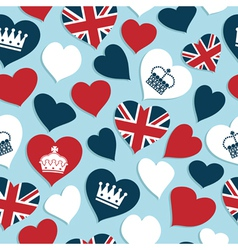 uk hearts pattern vector image vector image