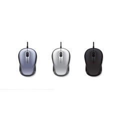 3 realistic computer mouse on white background vector image