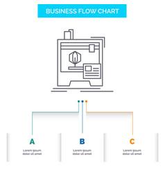 3d dimensional machine printer printing business vector