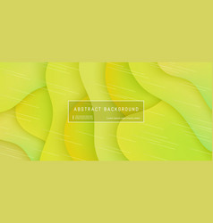 abstract background wave motion flow yellow vector image