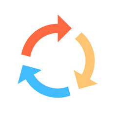 Arrow sign reload icon refresh symbol vector