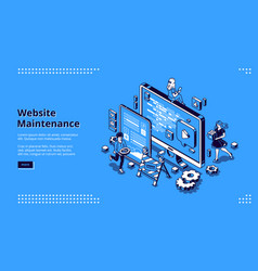 Banner website maintenance vector