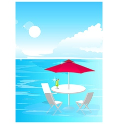 Beach Umbrella and Chairs vector image
